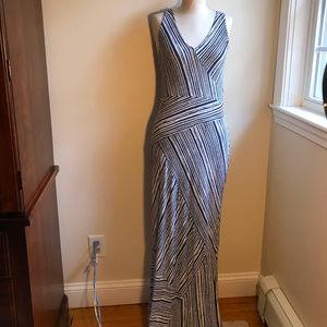 Toomy Bahama, blue/cream striped dress